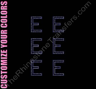 Greek Letter - Epsilon - 1.7 Inches Height - ss6 Stones - CUSTOMIZE YOUR COLORS - Rhinestone Design File Download