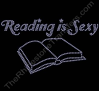 Reading is Sexy - with Book - Rhinestone Transfer