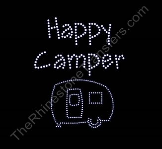 Happy Camper with Camper - Rhinestone Transfer