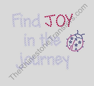 Joy In The Journey with Ladybug- Rhinestone Transfer