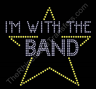 I'm With The Band Star - Rhinestone Design File Download
