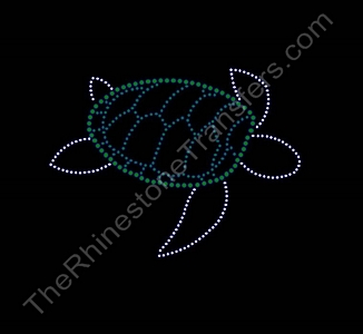 Sea Turtle - Rhinestone Transfer