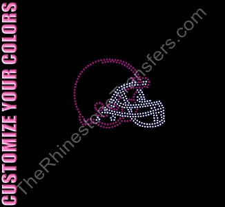 Football Helmet- CUSTOMIZE YOUR COLORS - Rhinestone Transfer
