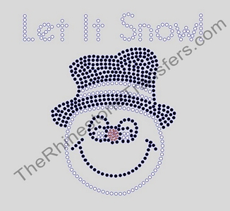 Snowman - Let It Snow! - Rhinestone Transfer
