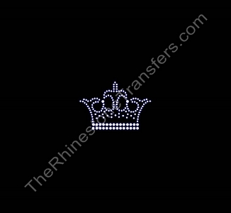 Crown - Fancy - Rhinestone Transfer