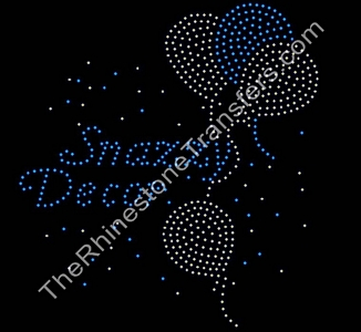 Snazzy Decor - with Balloons - Rhinestone Transfer