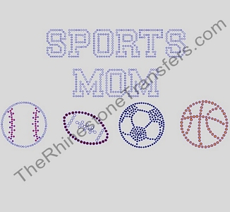 SPORTS MOM - Varsity - Rhinestone Transfer