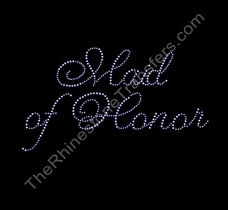 Maid of Honor - Cursive - Rhinestone Transfer