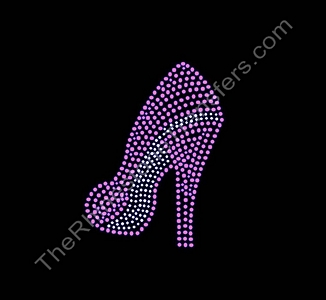 Pink High Heel Shoe - CUSTOMIZE YOUR COLORS - Rhinestone Transfer