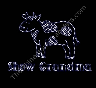 Show Grandma - with Steer - With Withers - Rhinestone Transfer