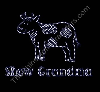 Show Grandma - with Steer - Rhinestone Transfer