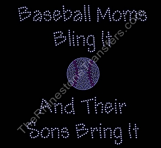Baseball Moms Bling It - Sons - Rhinestone Transfer