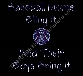 Baseball Moms Bling It - Boys - Rhinestone Transfer