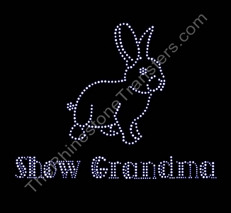 Show Grandma - with Rabbit - Rhinestone Transfer