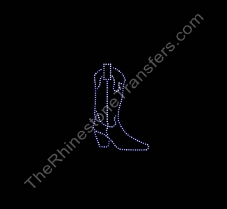 Cowboy Boot - Small - Rhinestone Transfer