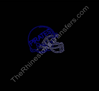 Football Helmet - PIRATES - Rhinestone Transfer