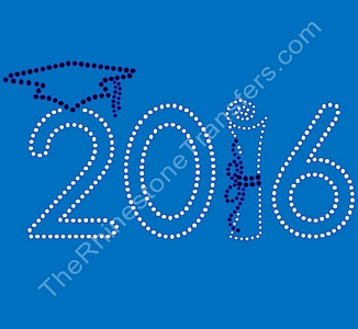 2016 - With Cap and Diploma - Rhinestone Transfer