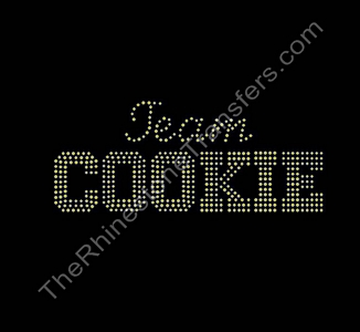 Team Cookie - Topaz - Rhinestone Transfer