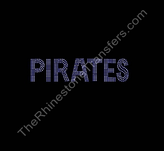 PIRATES - 3 Rows of Stones - Rhinestone Transfer