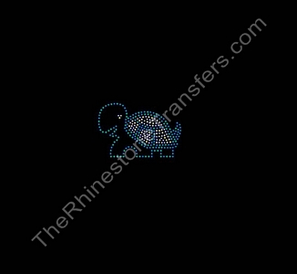 Small Turtle - Green and Citrine - Rhinestone Transfer