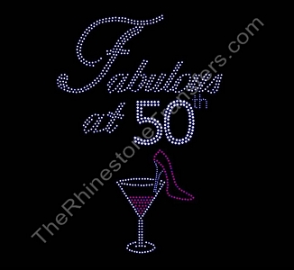 Fabulous at AGE - PERSONALIZED Rhinestone Transfer