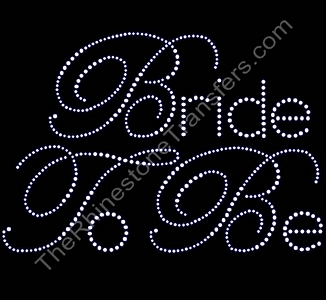 Bride To Be - Large - Rhinestone Transfer