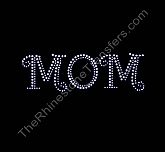 MOM - Curlz - Rhinestone Transfer
