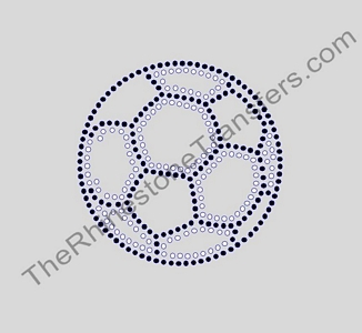 Soccer Ball - 6 Inches - Not Filled - Rhinestone Transfer