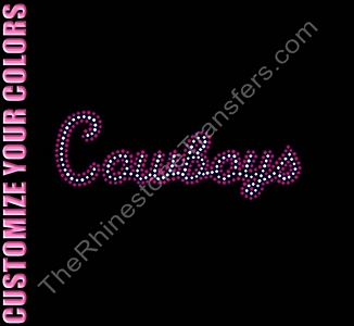 Cowboys - Retro Style - 2 Colors - CUSTOMIZE YOUR COLORS - Rhinestone Transfer