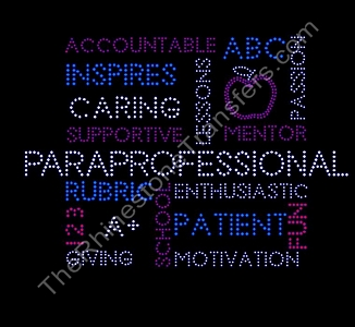 Paraprofessional - Word Collage - Rhinestone Transfer