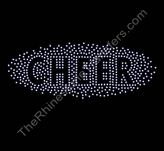 CHEER - Scattered Sparkles - Large - Rhinestone Transfer