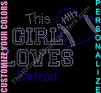 This Girl Loves City Name - Personalized - CUSTOMIZE YOUR COLORS - Rhinestone Transfer