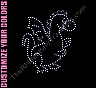 Dragon - Large - CUSTOMIZE YOUR COLORS - Rhinestone Transfer