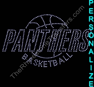 TEAM NAME Inside Basketball - Personalized - CUSTOMIZE YOUR COLORS - Rhinestone Transfer