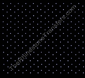 Sheet of Staggered ss10 - Spaced Out - Rhinestone Transfer