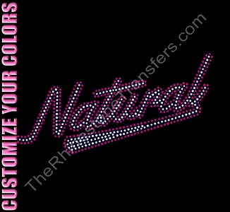 Natural - Retro - Rhinestone Transfer