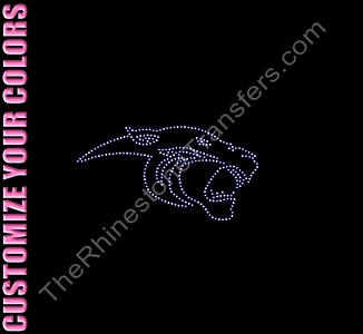 Panther Head - CUSTOMIZE YOUR COLORS - Rhinestone Transfer