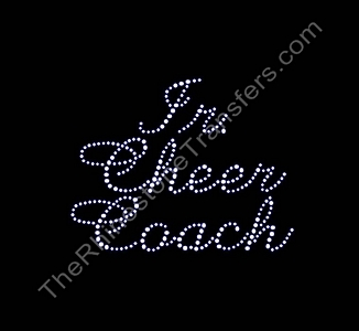 Jr. Cheer Coach - Cursive - Rhinestone Transfer