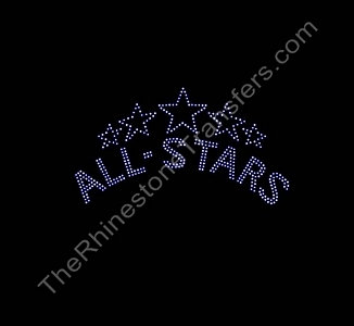 ALL-STARS - Double Line - Rhinestone Transfer