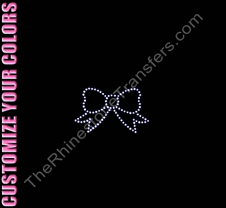 Bow - CUSTOMIZE YOUR COLORS - Rhinestone Transfer
