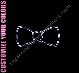 Bow Tie - CUSTOMIZE YOUR COLORS - Rhinestone Transfer