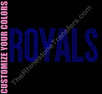 ROYALS - 3 Rows of Stones - CUSTOMIZE YOUR COLORS - Rhinestone Transfer