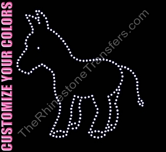 Donkey - Large - CUSTOMIZE YOUR COLORS - Spangle Transfer