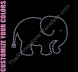 Elephant - Large - CUSTOMIZE YOUR COLORS - Spangle Transfer