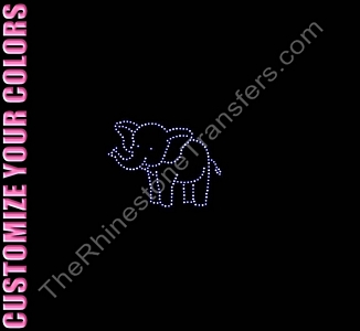 Elephant - Playful - Small - CUSTOMIZE YOUR COLORS - Spangle Transfer