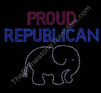 Proud Republican - With Elephant - Spangle Transfer