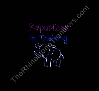 Republican In Training - With Elephant - Spangle Transfer