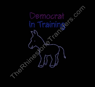 Democrat In Training - With Donkey - Spangle Transfer