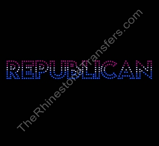 Republican - Striped - Spangle Transfer