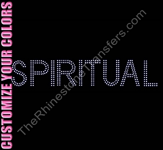 SPIRITUAL - Double Line - CUSTOMIZE YOUR COLORS - Rhinestone Transfer